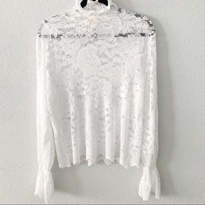 NEW Nordstrom Everleigh White Lace Floral Top